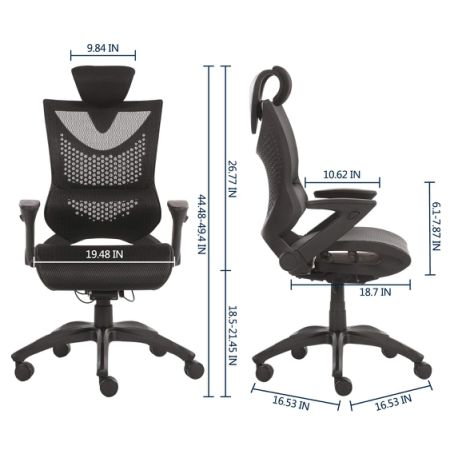 Greenforest Ergonomic Office Chair Computer Executive Desk With Adjule Recline Locking Mechanism Mesh High Backrest