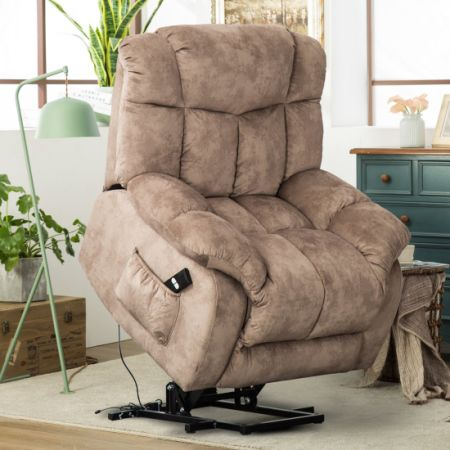 Shop for CANMOV Power Lift Chair Soft Fabric Upholstery Recliner ...