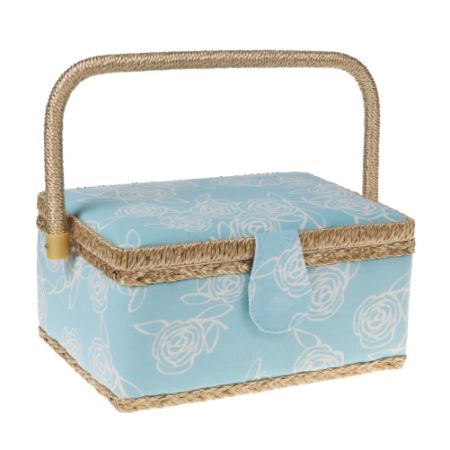 Classic Floral Print Fabric Sewing Basket Home Storage Box with a Tray  129 Pcs Sewing  sc 1 st  Crov.com & Shop for Classic Floral Print Fabric Sewing Basket Home Storage Box ...
