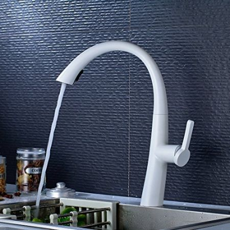 Shop for FLG Modern Single Lever One Hole White Swivel Spout Pull ...