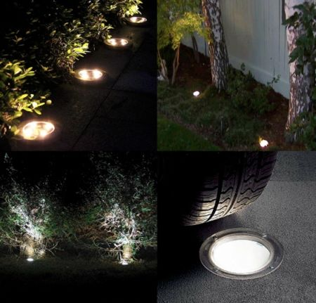 Shop for Solar Ground Lights 4 LED Solar Lights Outdoor Waterproof Lights Garden Landscape In