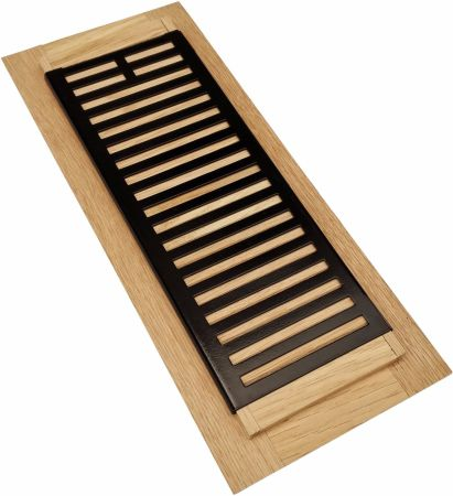 """Shop for Homewell 4"""" x 12"""" Solid Red Oak Wood Vent Cover ..."""
