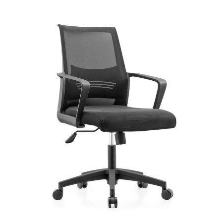 Charmant Topsit Small Office Desk Roller Chair With Arms