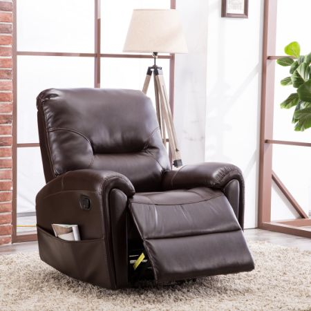 CANMOV Breathable Bonded Leather Recliner Chair Home