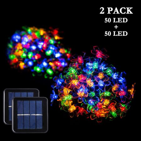 amazing garden lighting flower. 2 Packs Solar Strings Lights, GIGALUMI 23 Feet 50 LED Flower Fairy Amazing Garden Lighting R