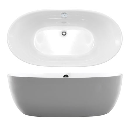 shop for kiva rhyme 67 freestanding bathtub 100 acrylic bath tub high glossy white model. Black Bedroom Furniture Sets. Home Design Ideas