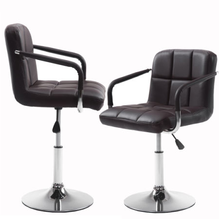 Shop For Wahson Pu Leather Adjustable Swivel Bar Stool