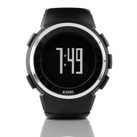 shop for ezon men 39 s digital pedometer watches sports. Black Bedroom Furniture Sets. Home Design Ideas