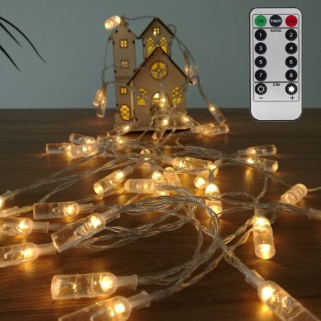 fairy string lights battery operated remote control outdoor indoor waterproof 8 modes 164ft 40 led