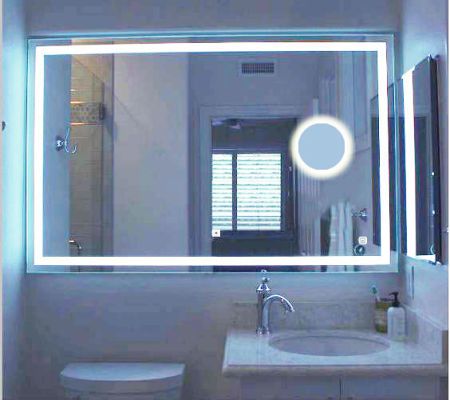 24 X36 Both Horizontal And Vertical Wall Mounted Magnify Led Bathroom Mirror