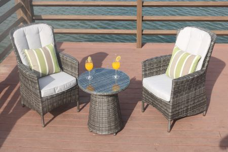 Direct Wicker Outdoor 3 Piece Chair Set Wicker Rattan Bistro Set Wicker Furniture - Two Chairs & Shop for Direct Wicker Outdoor 3 Piece Chair Set Wicker Rattan ...
