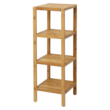 Shop for Kinbor 100% Bamboo Bathroom Shelf 5-Tier Multifunctional ...