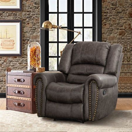 Shop For Canmov Breathable Bonded Leather Recliner Chair