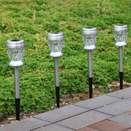 shop for gigalumi solar lights outdoor dual led garden light