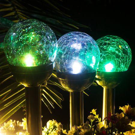 Shop For Gigalumi Solar Lights Outdoor Cracked Glass Ball