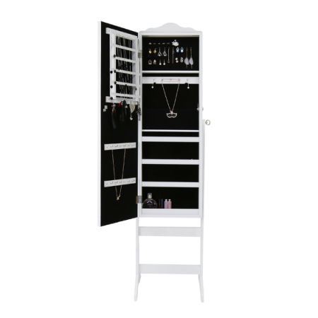 Shop for Kinbor Jewelry Cabinet Lockable Standing Jewelry Armoire