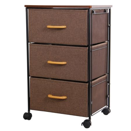 Lifewit Night Stand Rolling End Table/Accent Table Storage Cabinet With  Drawer For Bedrooms,