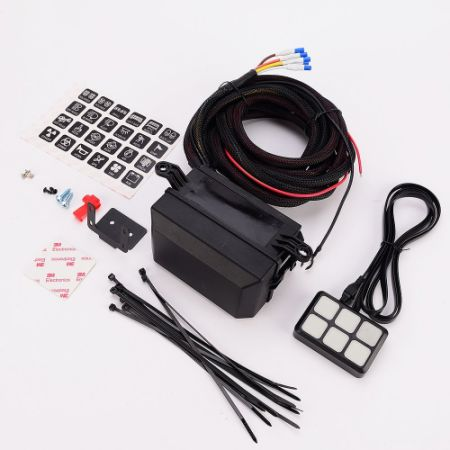 shop for universally 6 gang switch panel electronic relay system rh crov com Location of Fuse Panel On 66 Mustang Simple Boat Wiring