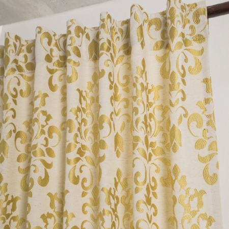 shop for comforhome jacquard window curtain back tab top drapes for living room beige flame. Black Bedroom Furniture Sets. Home Design Ideas