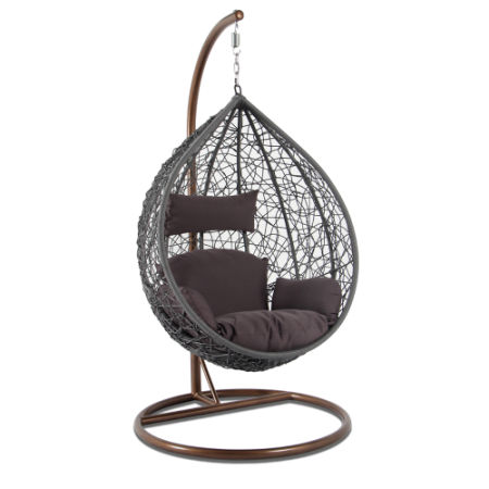 Wholesale Price Outdoor Patio Furniture Recyclable Wicker Hanging Swing  Chair