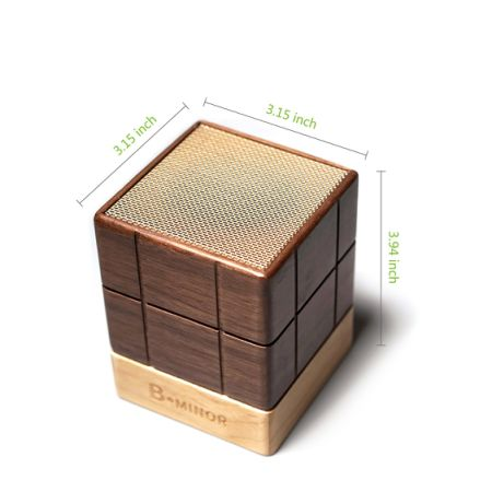 [Free Shipping] 5D Solid Wood Ultra Portable Mini Wireless Bluetooth 4.2 Speaker with TWS(True Wireless Stereo) Technology - Chocolate Brown