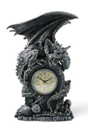 Antique Retro Decorative Table Mantel Clock, Resin Classic Figurine  Sculpture Art Decorative Clock Home Decor