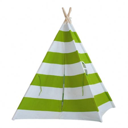 Green and White Stripes Cotton Canvas Toddler Play Tent Child Indoor Play Tent  sc 1 st  CROV.com & Shop for Green and White Stripes Cotton Canvas Toddler Play Tent ...