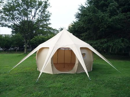Unique Canvas Bell Tent Beige 4m Cotton Pumpkin Tent Large Space C&ing Tent for Family & Shop for Unique Canvas Bell Tent Beige 4m Cotton Pumpkin Tent ...
