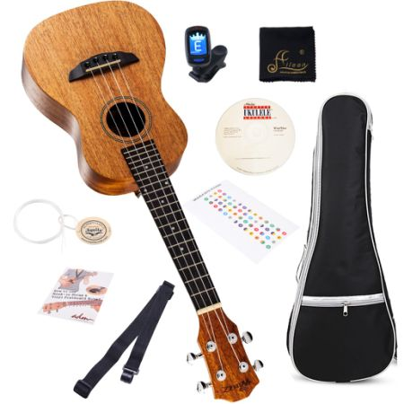 Shop For Ukulele 21 Soprano With Gig Bag Tuner Finger Sticker