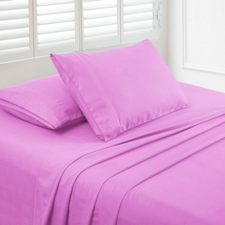 Luxe Manor 105 GSM 3pc Twin Size Bed Sheet Set   Super Soft Brushed  Microfiber Flat