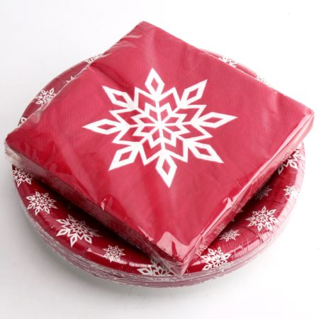 Kinbor 25 Sets 9  Winter Holiday Christmas Theme Snowflakes Party Dinnerware Supplies Disposable Includes Paper  sc 1 st  Crov.com & Shop for Kinbor 25 Sets 9