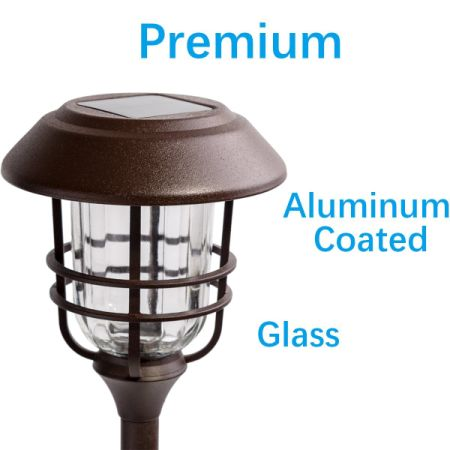 Gigalumi Outdoor Solar Lights Gl And Powder Coated Cast Aluminum Metal Path High