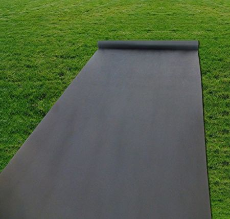 shop for agu 4 39 x50 39 weed control fabric premium 2oz weed barrier landscape fabric anti uv ground. Black Bedroom Furniture Sets. Home Design Ideas