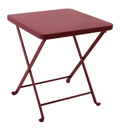 PHI VILLA Folding Metal Side Table Portable Patio Garden Furniture, Red - Shop For PHI VILLA Folding Metal Side Table Portable Patio Garden