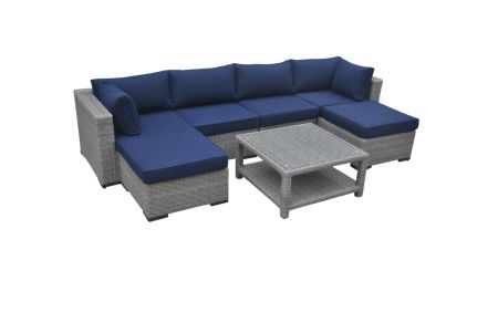 7pcs Outdoor Wicker Sofa