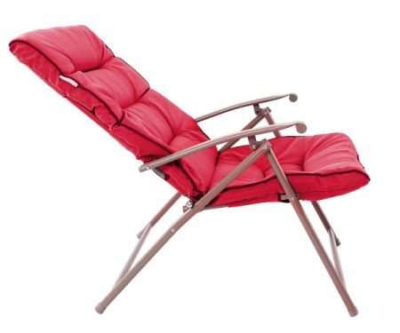PHI VILLA Patio 3 PC Soft Padded Folding Chair Set Cushioned Chairs Outdoor  Furniture, Red