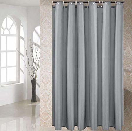 Sinland Waterproof Polyester Shower Curtain With 12 Plastic Hooks Bathroom Use Decorative Bath Designsc 72