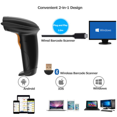 1d Autosense Laser Barcode Scanner Reader With 200 Scans Sec Handheld And Hand Optional Two Diffe Types Of Stand Holder For Selection