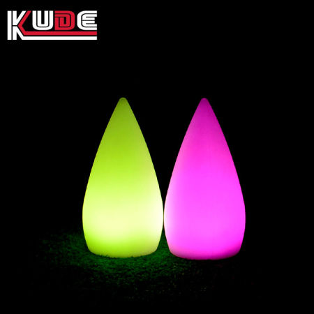 Small 12*12*24cm Waterproof Floating LED Water Drop Lights, RGBW Color