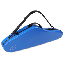 "Aileen 4/4 Full Size Luxury Violin Hard Case with Hygrometer, 4 Colors, ""Air"" Series (Blue)"
