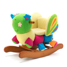 [Free Shipping] Labebe Wooden Baby Rocking Horse Ride-on Toys - Butterfly