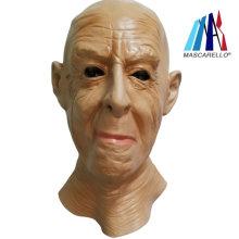 MASCARELLO Mens Old Man Wrinkled Full head Latex Fancy Dress Costume Head Neck