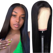 "13x4 Lace Front Wig For Black Women150% Density Brazilian Straight Lace Front Wigs Human Hair Pre Plucked with Baby Hair Natural Black 16""(40.6cm)"