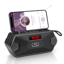 Portable BT5.0 Speaker Radio speakers Mini Wireless Bluetooth Speaker Support Place the phone Hidden mobile phone holder 8 hours long play time Outdoor home speaker