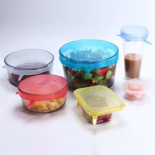 Transparent Color 12PCS X Silicone Stretch Lids (12 Pack, Various Size),Reusable Durable and Expandable Lids, Eco-Friendly Stretch for Container, Bowl and Cup in Dishwasher, Refrigerator and Microwave