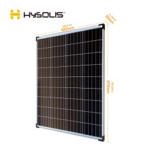 100W solar panel monocrystalline PV module for off-grid RV marine camping