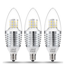 [Free Shipping] LOHAS 60 PACK LED Candelabra Bulbs Non-Dimmable 7W Base E12 6000K 680 Lumens Replacement for 65-70W for Home Lighting