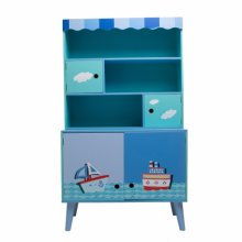 Labebe Children's Wooden Furnitury Kids' Ocean Style Free Standing Cabinet