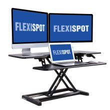 "FLEXISPOT Stand Up Desk Converter - 42"" Wide Platform Standing Desk Riser with Deep Keyboard Tray for Laptop"