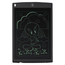 Writing Tablet 12inch Electronic LCD Hand Writing Board/blackboard with Pen and Mouse Mat and Rular Function (Black)